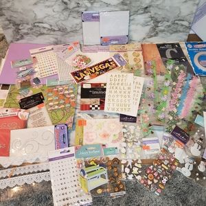 50 piece scrapbook collection of embellishments